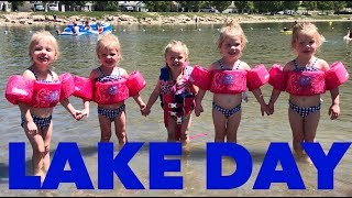 QUADRUPLETS FIRST TIME PLAYING AT THE LAKE
