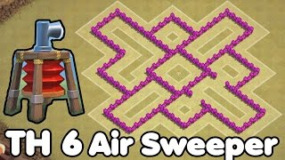 getlinkyoutube.com-Clash of Clans Town Hall 6 Defense With Air Sweeper (CoC TH6) Trophy Base & War Base Defense