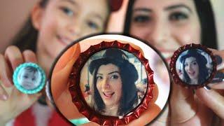 Diy || Gazoz kapaklarından Fotoğraflı Magnet ||  Recycled Bottlecap