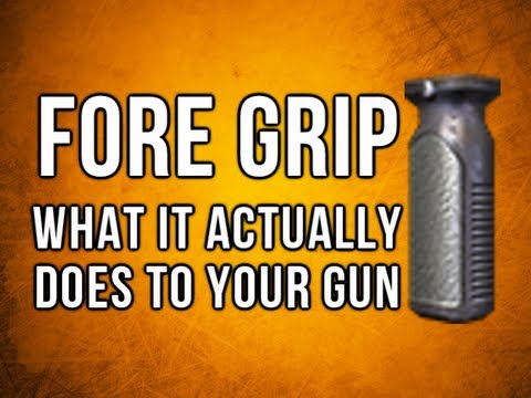 Black Ops 2 In Depth - Fore Grip - What it actually does to your gun!