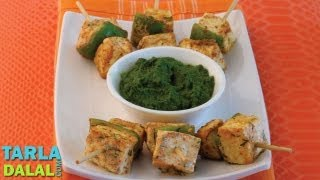 getlinkyoutube.com-Paneer Tikkas, Tava Paneer Tikka, Recipe in Hindi (पनीर टिक्का) by Tarla Dalal