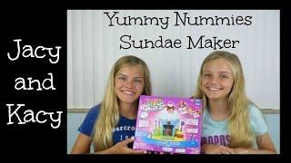 getlinkyoutube.com-Yummy Nummies Mini Kitchen Magic ~ Sundae Maker Kit ~ Jacy and Kacy