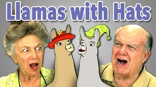getlinkyoutube.com-ELDERS REACT TO LLAMAS WITH HATS