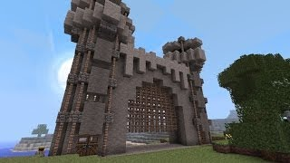 getlinkyoutube.com-ps3 Minecraft - como hacer una puerta de castillo