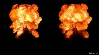 Fireball Effect Compilation - Blender Smoke Simulation - Zeitfreund