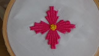 getlinkyoutube.com-Hand Embroidery: Kadai kamal Stitch (Flowers)