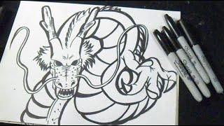 getlinkyoutube.com-Cómo dibujar un Dragon Graffiti - Shenlong