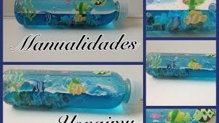 getlinkyoutube.com-EL MAR EN UNA BOTELLA  ( MANUALIDAD RECICLABLE ) .