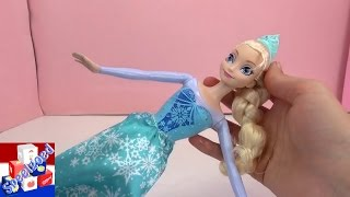 getlinkyoutube.com-IJskoningin Elsa pop met toverkleuren unboxing Nederlands – Frozen Elsa Barbie