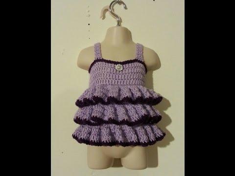 #Crochet Easy - beginner Ruffled Shirt Top Baby Toddler adult  #TUTORIAL Crochet toddler