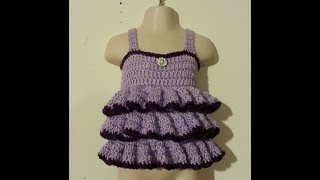 getlinkyoutube.com-CROCHET How to #Crochet Easy - beginner Ruffled Shirt Top Baby Toddler adult  #TUTORIAL #183