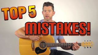 The 5 Mistakes You're Making With Learning Guitar