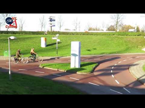 Bicycle underpasses at a roundabout in Goes (Netherlands)