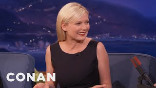 Kirsten Dunst's First Kiss Was Brad Pitt  - CONAN on TBS