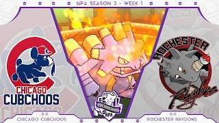 getlinkyoutube.com-NPA Season 3 Week 1 | Chicago Cubchoos vs Rochester Rhydons | Pokemon Draft League WiFi Battle