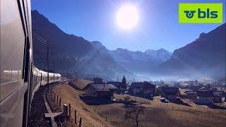 getlinkyoutube.com-Swiss Railways - Lötschberg Mountain Line in First Class and Open Window