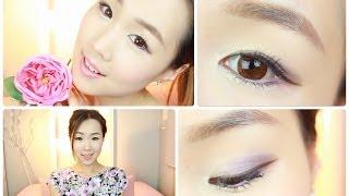 getlinkyoutube.com-First Date Purple Spring Makeup ♥ 보라빛 데이트 봄날 화장