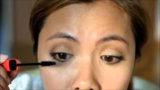 getlinkyoutube.com-แต่งตาแบบที่มีกาวติดตาสองชั้น Look 1
