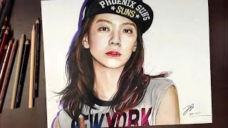 getlinkyoutube.com-Drawing Song Ji Hyo 송지효(宋智孝) | drawholic