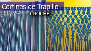 getlinkyoutube.com-Cortinas de Trapillo - Tejidas a Mano ( Diseños e Ideas )