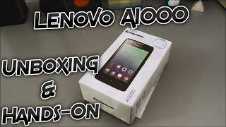 Lenovo A1000 Unboxing and Hands-On - First Boot width=