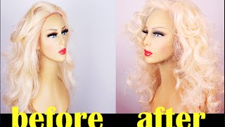 getlinkyoutube.com-CHEAP AND EASY WAY TO RESTORE YOUR OLD SYNTHETIC WIG