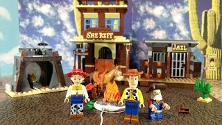 getlinkyoutube.com-TOY STORY Lego Woody's Roundup Lego Disney Toy Story Woody Playset