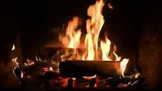 Romantic Fireplace with Crackling Fire Sounds (HD)