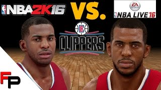 NBA 2K16 vs. NBA Live 16 - Los Angeles Clippers - Player Faces