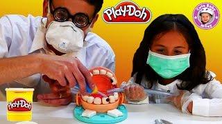 getlinkyoutube.com-Play Doh Doktor Wackelzahn deutsch Dr Drill n Fill - Wir spielen Zahnarzt mit Knetmasse