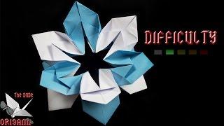 "getlinkyoutube.com-[ORIGAMI TUTORIAL] ""Snowflake"" Flower || Christmas Origami/Ornaments/Flowers"