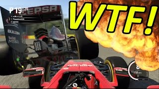 getlinkyoutube.com-DRIVE TILL THE TYRES EXPLODE: F1 Game Funny Moments & Crashes