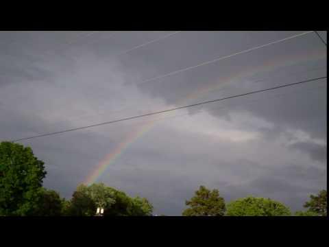 Rainbow at church tonight.