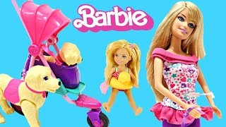 getlinkyoutube.com-Barbies Puppy Stroller Taffy Really Walks! Barbie Pets ZELFS FURBY Toy Review DCTC