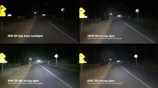 getlinkyoutube.com-Xray Vision: Quartz Halogen vs HID vs LED driving lights