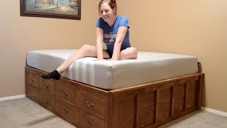 getlinkyoutube.com-Make a Queen Size Bed With Drawer Storage