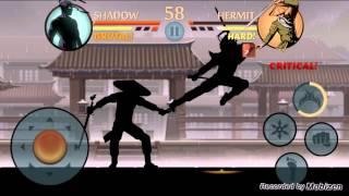getlinkyoutube.com-Shadow fight 2 defeating lynx,hermit,butcher