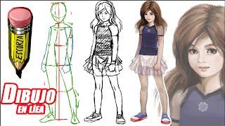 getlinkyoutube.com-Como dibujar una niña