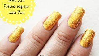 getlinkyoutube.com-Uñas espejo o metalizadas con foil / Foil nail art