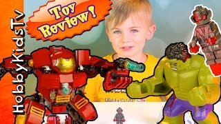 getlinkyoutube.com-Lego The Hulkbuster Smash Build Play Ultron Iron Man 76031 by HobbyKidsTV
