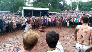 Mud Fight! Kendal Calling 2014 - Razorlight