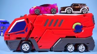getlinkyoutube.com-MeCard cars 터닝메카드 메가드래곤 프린스콩 장난감 Turning MeCard transformers car toys