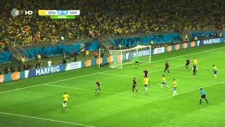 getlinkyoutube.com-WM 2014 Halbfinale Brasilien - Deutschland, Komplettes Spiel