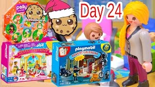 getlinkyoutube.com-Polly Pocket, Playmobil Holiday Christmas Advent Calendar Day 24 Toy Surprise Opening Video