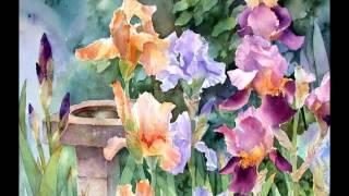 getlinkyoutube.com-Ann Mortimer Акварельные цветы
