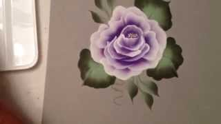 getlinkyoutube.com-One Stroke: How to Paint a Rose by April Numamoto