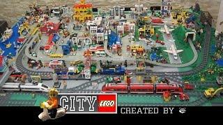 getlinkyoutube.com-Lego città - Classic style city diorama - Layout Summer 2014