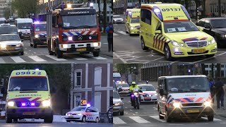 getlinkyoutube.com-Dutch emergency vehicles with lights and sirens [Code 3]