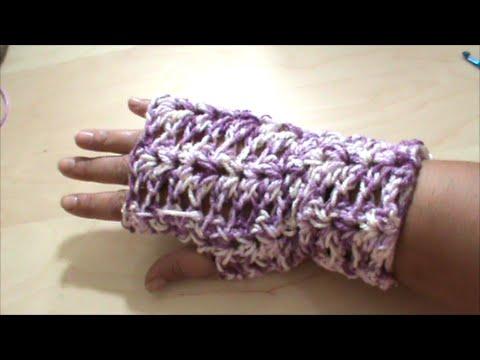 Πλεκτά γάντια με βελονάκι
