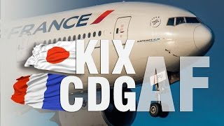 getlinkyoutube.com-Air France B777-200 'New' Business Class | KIX - CDG |  大阪 関西 - パリ
